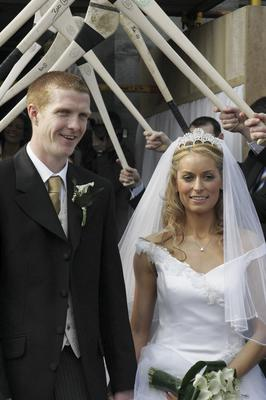Kilkenny Hurler Henry Shefflin married Deirdre O'Sullivan at Callan, Co. Kilkenny in 2007. Photo Patrick Browne Jnr