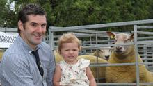 Sheep exhibitor Trevor Bell and daughter Clara