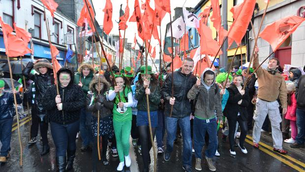 St Patrick's Day Parade in Galway