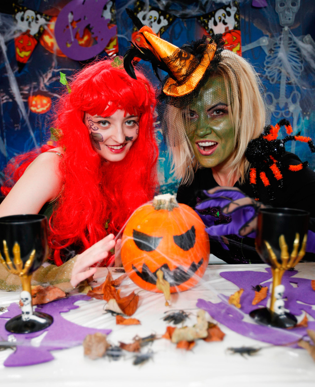 Students Zoe Doyle and Izabela Janczak from Whitehall College of Further Education in Dublin at a Halloween event in aid of 'Trick or Treat for Temple Street' Photo: Conor McCabe