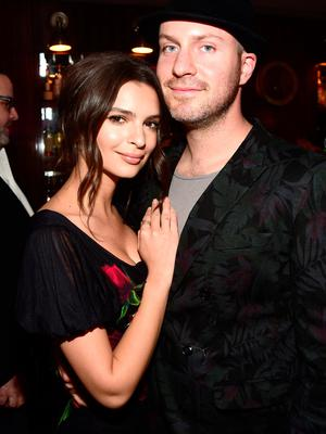 Actress/model Emily Ratajkowski (L) and producer Jeff Magid  attend Global Green USA's 13th annual pre-Oscar party at Mr. C Beverly Hills on February 24, 2016 in Los Angeles, California.  (Photo by Frazer Harrison/Getty Images for Global Green)