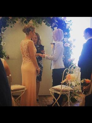 Valerie and Meg exchanged vows in Cork on Friday