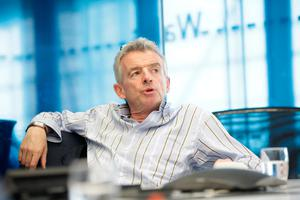 """CONTROVERSIAL: Ryanair chief executive Michael O'Leary, who has vowed to remain at the airline, angered pilots by saying that they are """"not hard-worked"""". Picture: Bloomberg"""