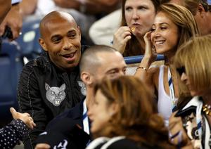 Thierry Henry was at the US Open this week and must have been inspired