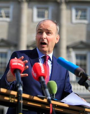 Idea: Micheál Martin also suggested tourism may needs its own standalone department. Photo: Gareth Chaney/Collins