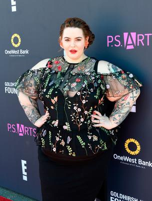 Model Tess Holliday attends P.S. ARTS and OneWest Bank's Express Yourself 2016 at Barker Hangar on November 13, 2016 in Santa Monica, California.  (Photo by Joshua Blanchard/Getty Images for P.S. ARTS)