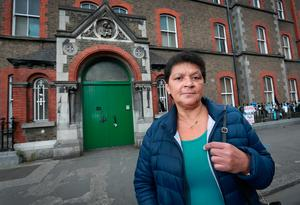 Delia Hanney from Broadstone who was in the Magdalene Laundry in Sean McDermott St from 1973-76, pictured outside the former laundry. Picture Credit:Frank McGrath 30/8/18