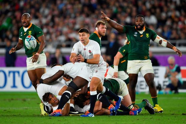 England's Ben Youngs in action during the 2019 Rugby World Cup final match at Yokohama Stadium. PA Photo. Photo credit: Ashley Western/PA Wire.