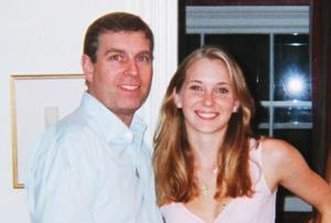 Prince Andrew with Virginia Roberts. He denies all of her claims
