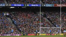 17 September 2017; Dean Rock of Dublin kicks what proved to be the winning point in the last minute of the GAA Football All-Ireland Senior Championship Final match between Dublin and Mayo at Croke Park in Dublin. Photo by Ray McManus/Sportsfile