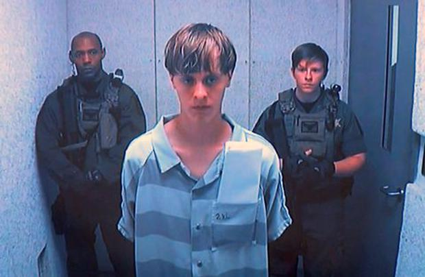 Dylann Roof appears via video before a judge in Charleston, S.C., on Friday, June 19, 2015. The 21-year-old accused of killing nine people inside a black church in Charleston made his first court appearance, with the relatives of all the victims making tearful statements. (Centralized Bond Hearing Court, of Charleston, S.C. via AP)