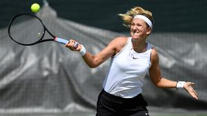 Serve and volley: Victoria Azarenka will be travelling to Wimbledon this week with her son Leo (2) who accompanies her to every tournament she plays. Photo: REUTERS/Tony O'Brien