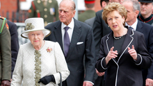 Commemoration: President Mary McAleese and Britain's Queen Elizabeth at Dublin's Garden of Remembrance in 2011. Photo: Frank Mc Grath