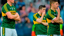 Dejected Kerry players Kieran Donaghy, Paul Murphy and James O'Donoghue after the defeat to Dublin