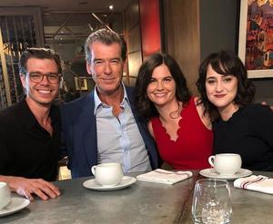 Pierce Brosnan Has Adorable 25 Year Reunion With The Three Mrs
