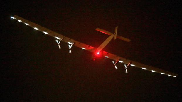 Solar Impulse 2 takes off from Nanjing Lukou International Airport in Nanjing in eastern China's Jiangsu province.