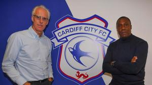 Mick McCarthy and his assistant Terry Connor will take charge at Cardiff City for the rest of the season. Pic: cardiffcityfc.co.uk