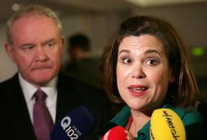 Mary-Lou McDonald, pictured with Martin McGuinness