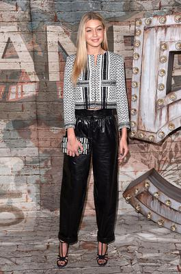 NEW YORK, NY - OCTOBER 13:  Model Gigi Hadid attends the CHANEL Dinner Celebrating N°5 THE FILM by Baz Luhrmann on October 13, 2014 in New York City.  (Photo by Andrew H. Walker/Getty Images for CHANEL)