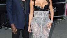 Kim Kardashian West and Kanye West  arrive at the GQ Men of the Year Awards at the Royal Opera House, London. Photo: Daniel Leal-Olivas/PA Wire