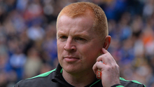 Neil Lennon: punished for ref rage. Photo: Getty Images