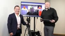 Tech solution: Ian Walsh (left), MD of Ventilux, and Ian Murphy, R&D manager, with their intelligent temperature detection system. Photo: Frank McGrath