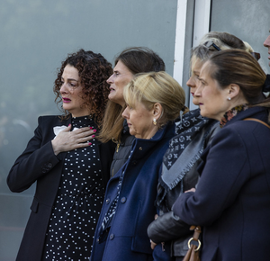 A group of mourners. Photo: Mark Condren