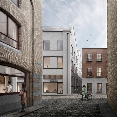 Artist's impression of Moore Street as a new cultural quarter
