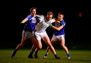 Conor McGraynor of Wicklow, centre, in action last year against Laois. Photo by Harry Murphy/Sportsfile