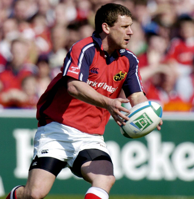 Jason Holland in action for Munster during the Heineken Cup semi-final against London Wasps during the 2003-2004 season. Photo: Brendan Moran/Sportsfile