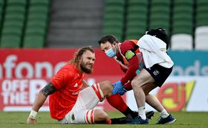 RG Snyman is set to miss the rest of this season after tearing his ACL. Photo by Ramsey Cardy/Sportsfile