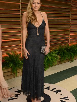 When she wore this to the Vanity Fair Oscar party last year.