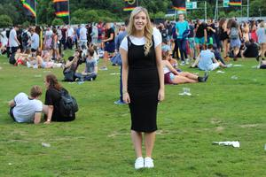 Day One - Amy Mulvaney in a look from Penneys at Longitude. Photo: Jennifer Duffy