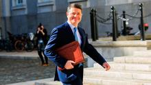 Minister for Finance and Public Expenditure and Reform, Paschal Donohoe, TD at the announcement of Budget 2019 in the Courtyard of the Department of the Taoiseach, Government Buildings, Dublin. Photo: Gareth Chaney, Collins