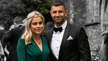 Jess Redden and Rob Kearney at Cian Healy's wedding last year. Picture: Andy Newman