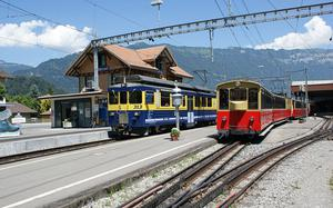The bodies were discovered in a car park near a train station in Wilderswil Photo: Markus Giger