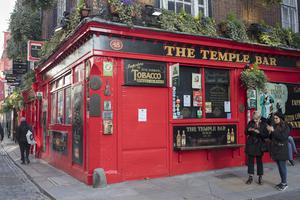 The shutters were pulled down yesterday on pubs in Temple Bar and all over the country. Picture: Arthur Carron.