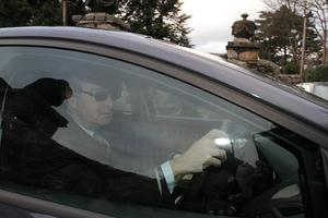 Thursday 05 March 2015. Gorse Hill. Brian O'Donnell leaves his house this morning in KIlliney on the way to court.