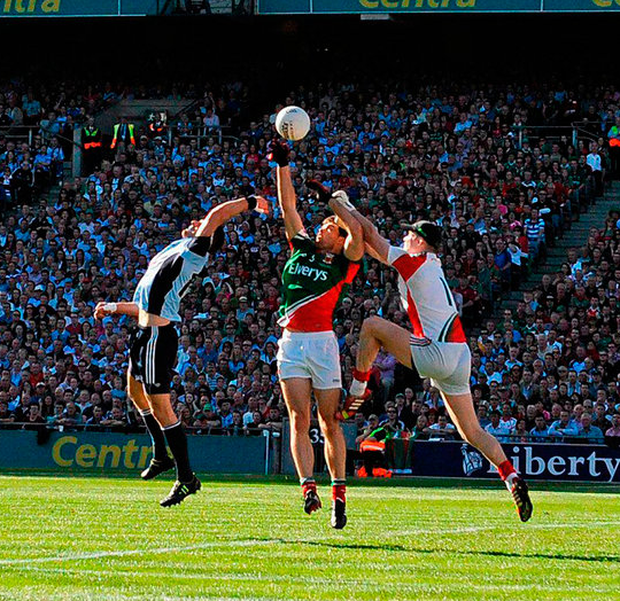 Bernard Brogan scores Dublin's crucial goal in the 2013 final. Photo: Sportsfile