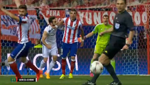 Dani Carvajal's mouth and Mario Mandzukic's arm were in very close proximity