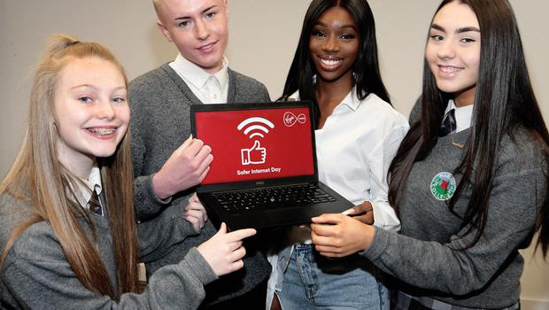 Yewande Biala at Virgin Media's campaign for Safer Internet Day 2020