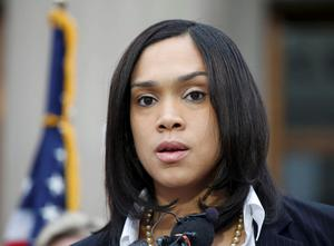"""Baltimore state attorney Marilyn Mosby speaks on recent violence and says there is """"probable cause to file criminal charges in the Freddie Gray case""""  of officers involved in the arrest of the black man who later died of injuries he sustained while in custody in Baltimore, Maryland May 1, 2015.    REUTERS/Adrees Latif"""
