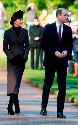 The Duke and Duchess of Cambridge  leave followin a service to mark the 100th anniversary of the end of the doomed First World War Gallipoli campaign at the Sandringham war memorial cross