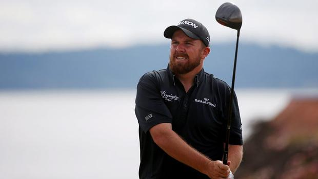 Shane Lowry in action at Chambers Bay