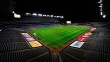 A general view of the action in an empty stadium during the All-Ireland SFC final between Dublin and Mayo at Croke Park in Dublin last month. Photo: Brendan Moran/Sportsfile