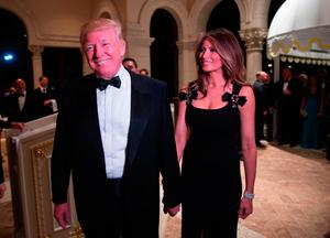 Donald Trump with his wife Melania at his Mar-a-Lago bash. Photo: Getty Images