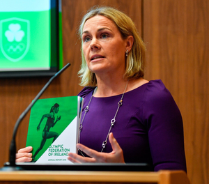 Sarah Keane, the CEO of Swim Ireland, is in the frame to take on a similar role with the FAI. Photo: Sam Barnes/Sportsfile