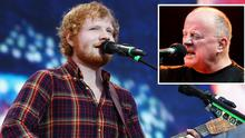 Ed Sheeran and Christy Moore (inset)