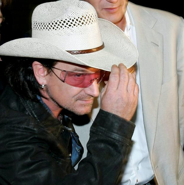 'Wherever I lay my hat...' Bono had dinner with two pals