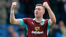 Stephen Ward leads the way for Irish players in England, helping Burnley avoid the drop. Photo: GETTY
